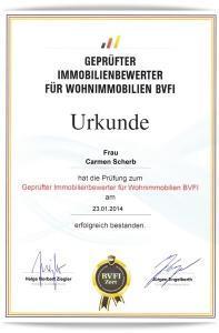 Urkunde Immobilienbewerter BVFI_Klein_Schatten